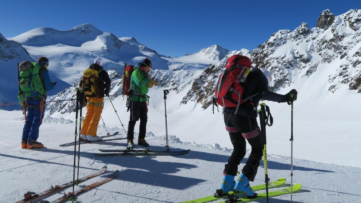 Pitztal výstup na Wildspitze (3.772m) 24.3.2018 (Pavlina)