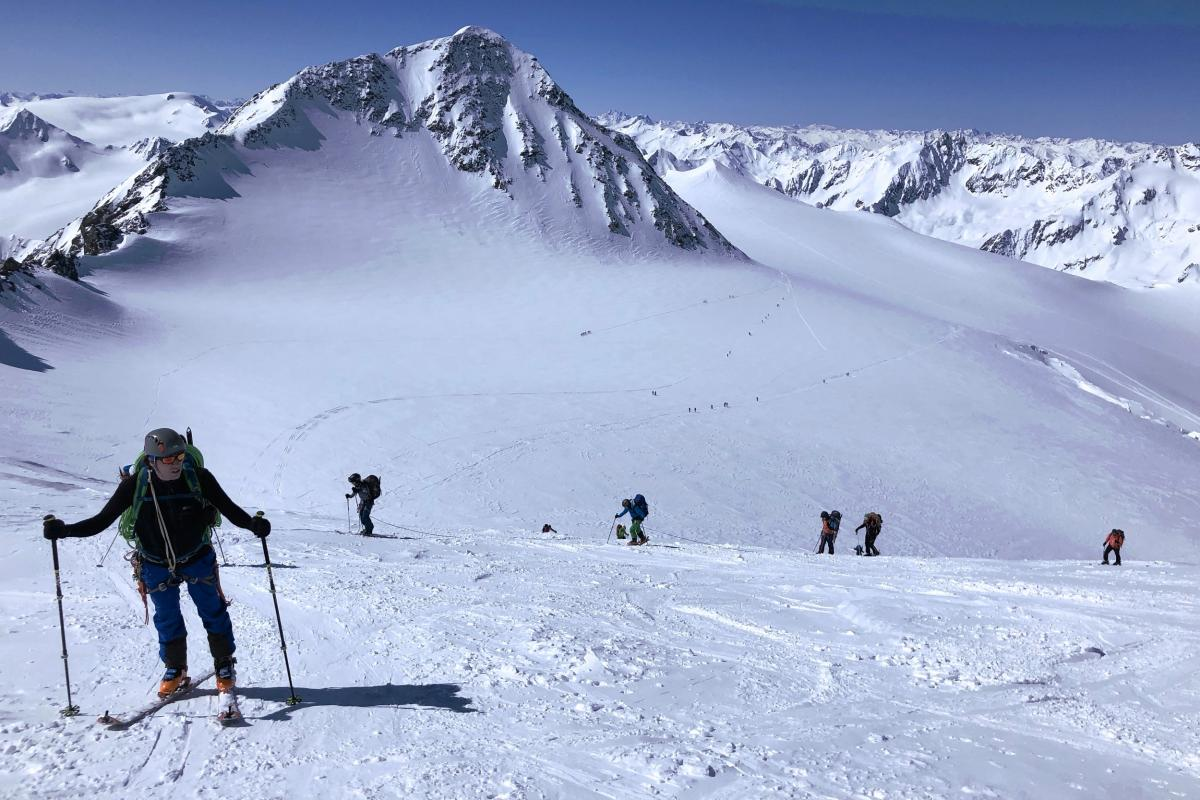 Pitztal výstup na Wildspitze (3.772m) 24.3.2018 (Yveta)
