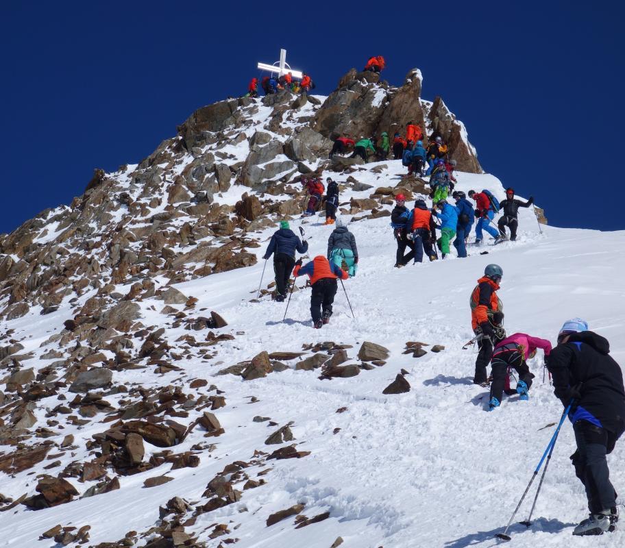 Pitztal výstup na Wildspitze (3.772m) 24.3.2018 (Kolotuk)