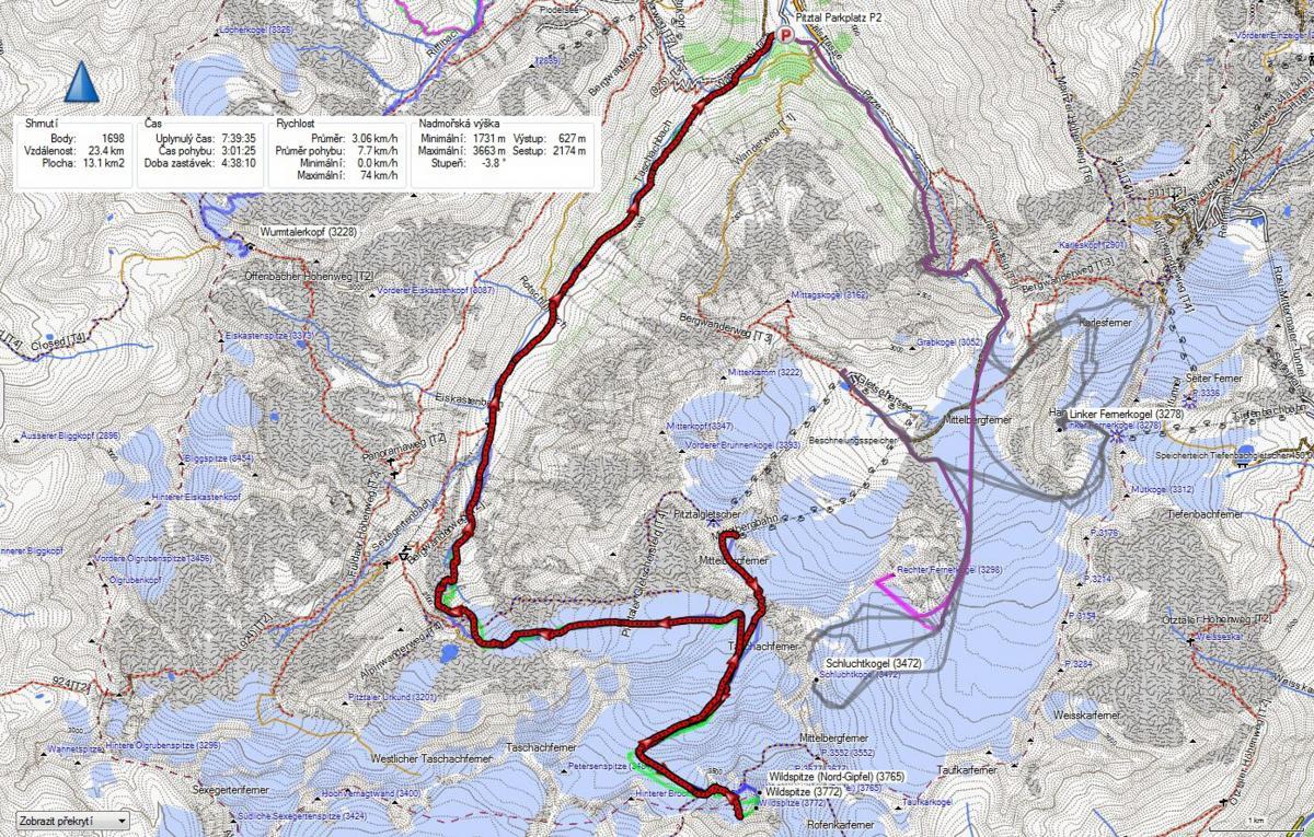 Pitztal výstup na Wildspitze (3.772m)