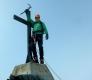 ... na vrcholku Allalinhorn (4.027m)  dokonce pár dedimerů modrého nebe ...
