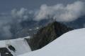 pohled z Breithornu na lanovku, krčnu a vyhlídkovou plošinu ...