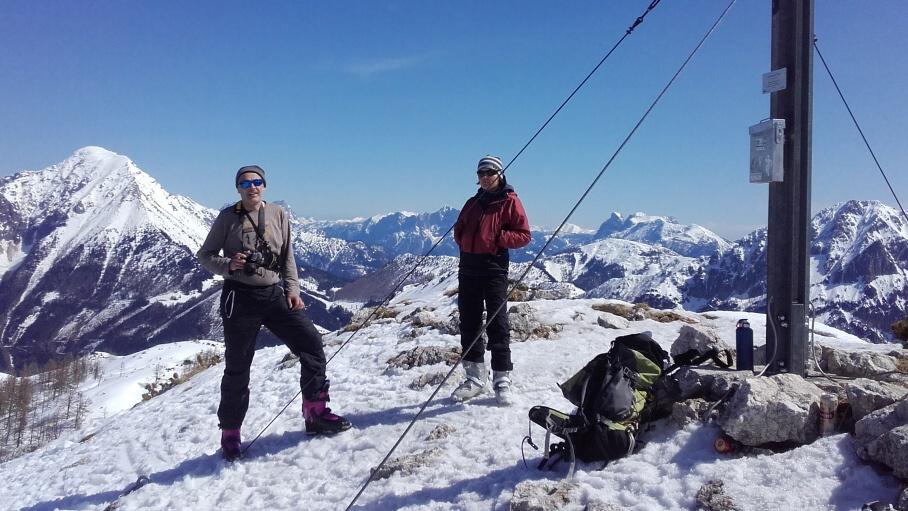Lehký Skialp Začátkem Dubna V Totes Gebirge
